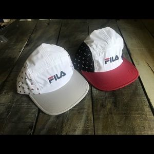 042710c9574 Fila Accessories - Two New Fila All Over Print 5 Panel Camper Hat